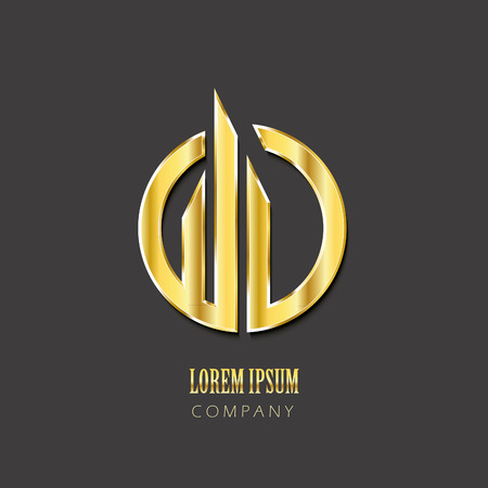Creative vector icon design template. Golden symbol