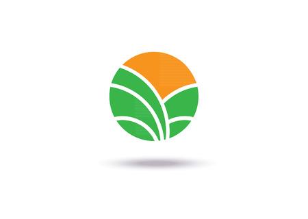 Landbouw icoon Sjabloonontwerp. Teken of Symbool. Boerderij, natuur, ecologie. Plat ontwerp