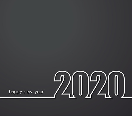 2020 Happy New Year or Christmas Background creative greeting card design, can be used for flyers, invitation, posters, brochure, banners, calendar. 일러스트