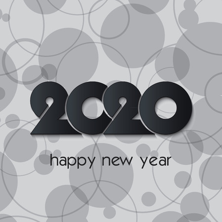 2020 Happy New Year or Christmas background creative design for your greetings card, flyers, invitation, posters, brochure, banners, calendar