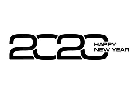 2020 year numbers creative design on white background