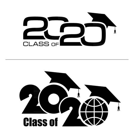 Class of 2020 on white