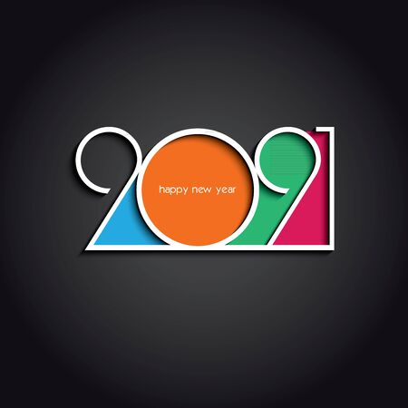 2021 Happy New Year or Christmas background creative design for your greetings card, flyers, invitation, posters, brochure, banners, calendar