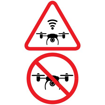 Icon drones zone. Flights with drone prohibited. No drones zone.