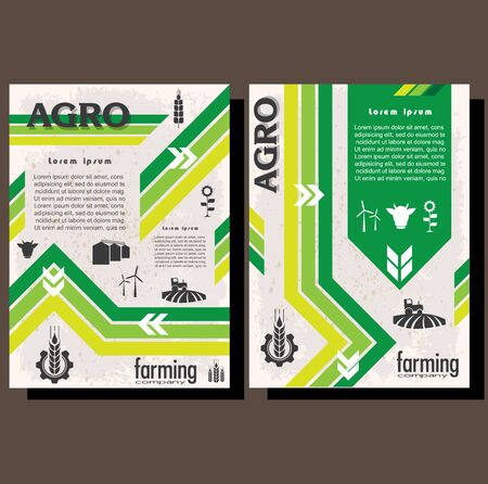 Agriculture brochure design template for agricultural company, agro conference, forum, event, exhibition, agro business