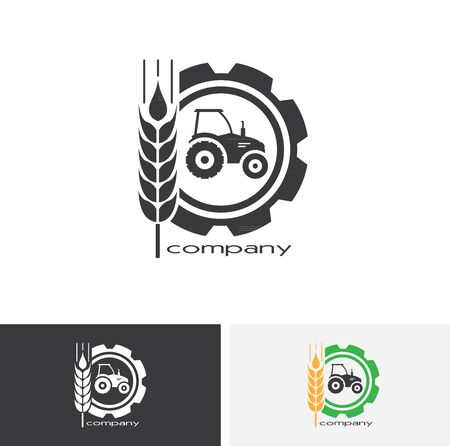 Agro company icon element design. Sign or Symbol design for industrial company or agriculture company. Farming. 일러스트
