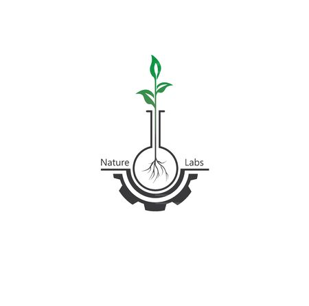 Lab nature icon template design. sprout leaf. simbol, ecology.