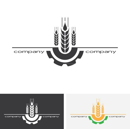 Agro company icon element design. Sign or Symbol, design for agriculture company. Farm, farming. 일러스트