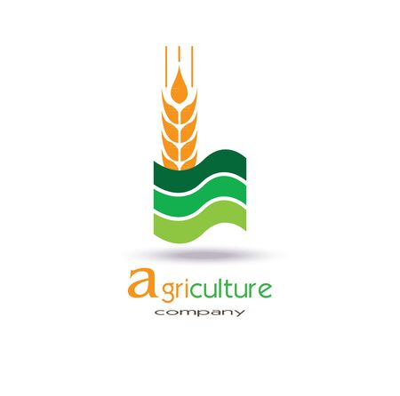 Agriculture icon Template Design. Symbol. farm, nature, ecology. Vector flat design