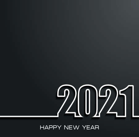 2021 Happy New Year background for your greeting card