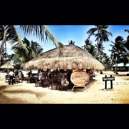 palawan: Sand bar in palawan Stock Photo