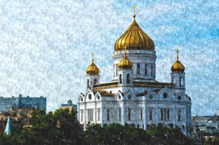 Christ the Savior Cathedral - virtual painting