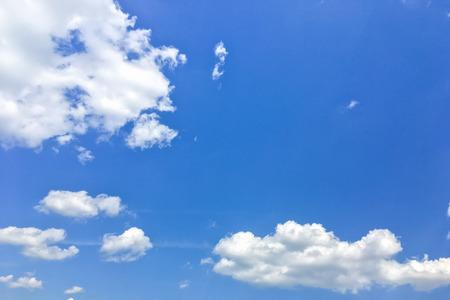 Cumulus clouds in the blue sky background