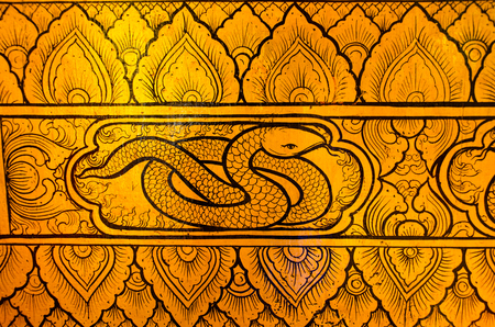 tradional: Thai tradional art snake Stock Photo