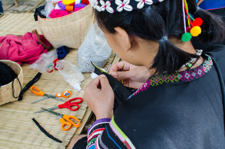 young northen thailand woman working in the sewing and dressmaking