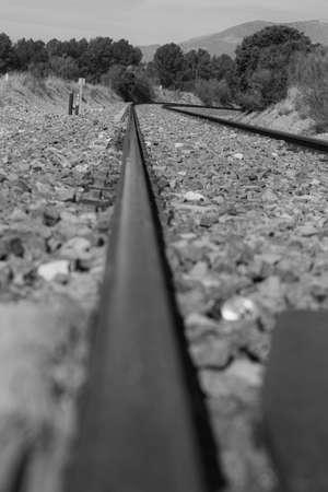 Photograph of the train tracks in Granada