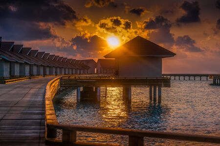 Watching the Dawn in Maldives