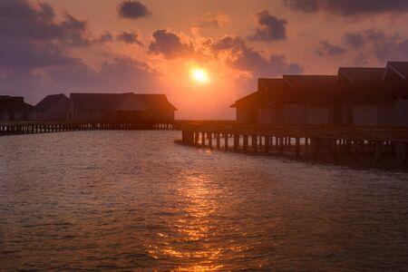 Watching the Dawn in Maldivas