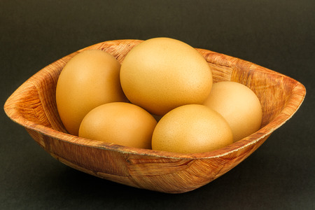 brown: brown eggs Stock Photo