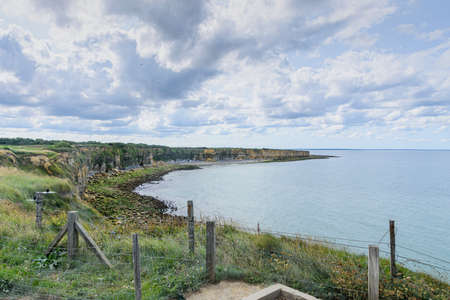 It is an area located on the top of a cliff on the Normandy coast.