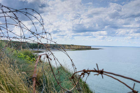 It is an area located on the top of a cliff on the Normandy coast, and barbed wire