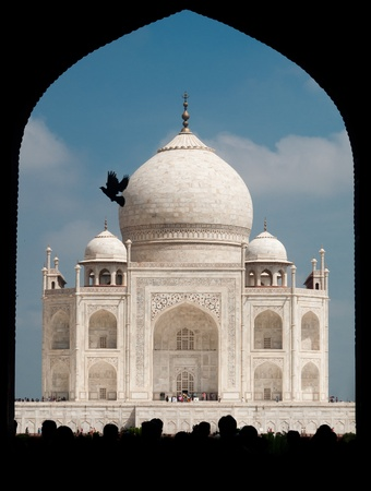 View of Taj Mahal, Agra, India  Taken from the entrance