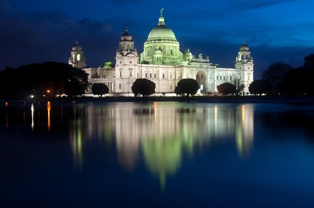 Victoria memorial after sunset  Calcutta, India Stock Photo - 12640573