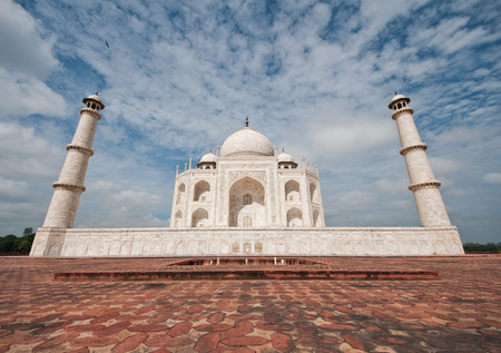 mumtaz: Close view of Taj Mahal, Agra, India. Taken with wide angle lens.g