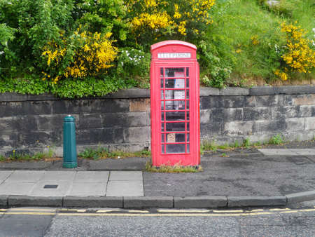 Phonebooth in a quit street of Edinmburgh
