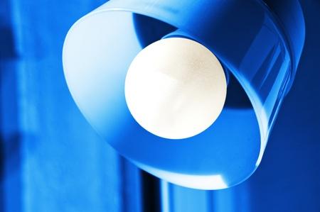 Cerca de la lámpara de lectura en Foto de archivo