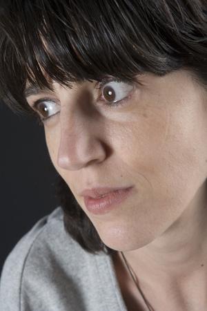 Studio portrait of woman photo