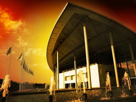 Centro de Convenciones de Valencia, Comunidad Valenciana, España Foto de archivo - 14147840