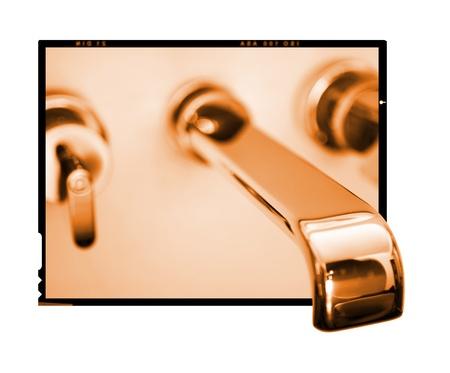 Diapo grifo del baño minimalista Foto de archivo