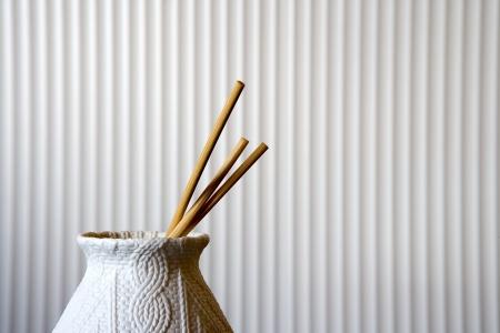 Decorative vase with chopsticks