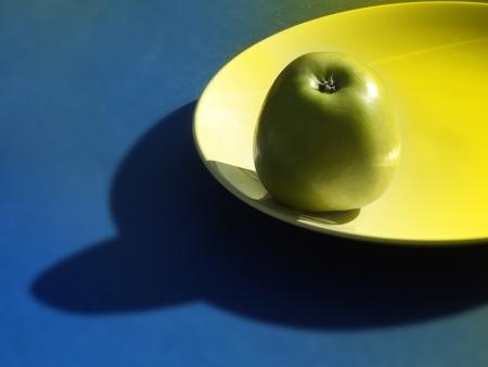 Manzana cerámica placa con efectos especiales Foto de archivo - 14216056
