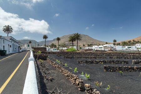 Typical Canarian village in Lanzarote, Canary Islands. Spain