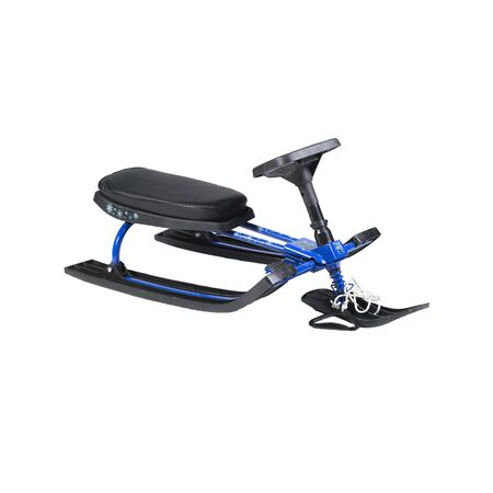 blue snow scooter on the white background