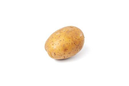 patate bollite su sfondo bianco e isolate Archivio Fotografico