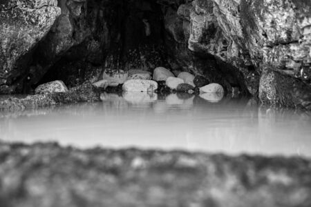Spa cave in the beach
