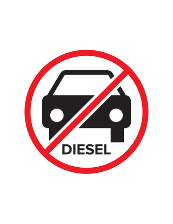 no diesel cars allowed print ready sticker