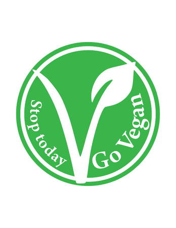 Stop today go vegan vector symbol