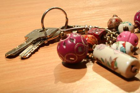 doorkey: Tasti con chiave a catena Archivio Fotografico