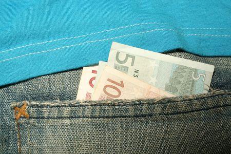 Back Pocket With Money