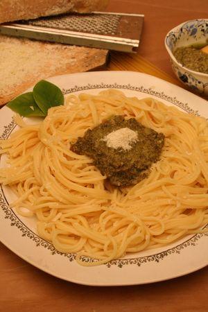 Spaghetti plate Stock Photo