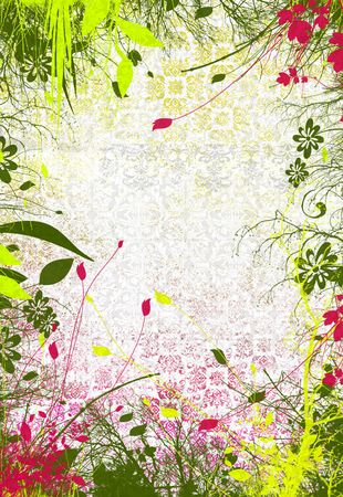 Abstract colored spring drawing