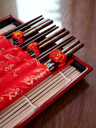 Chinese Chopsticks on a plate