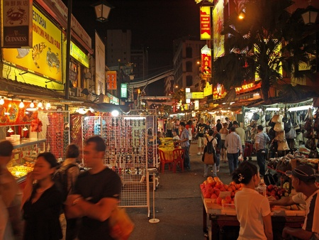 lumpur: China Town by night Editorial