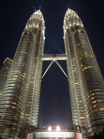 kuala lumpur tower: Petronas Towers in Kuala Lumpur      Editorial