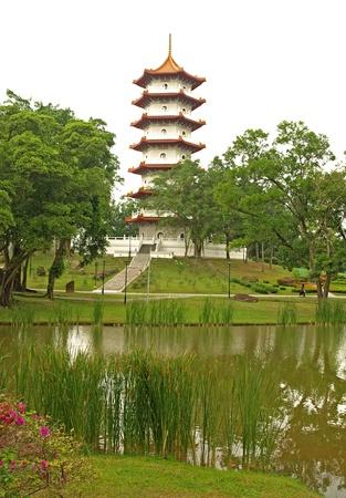 Pagoda in Jurong Gardens, Singapore photo
