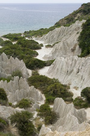 Eroded Clay Formations, Zakynthos Island - summer holiday destination in Greece photo